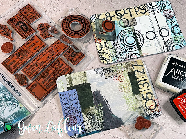 Gwen Lafleur May 2021 PaperArtsy Stamp Release - Project Tutorial Step 3