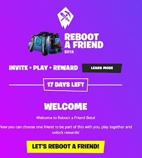 Fn.gg/rebootafriend Get Rewarded for Bringing Friends