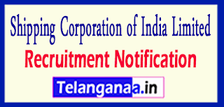 SCI Shipping Corporation of India Limited Recruitment Notification 2017 Last Date 25-05-2017