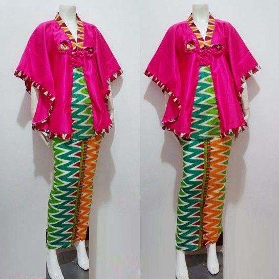 Model Baju Batik Setelan Wanita Kombinasi Rok Panjang