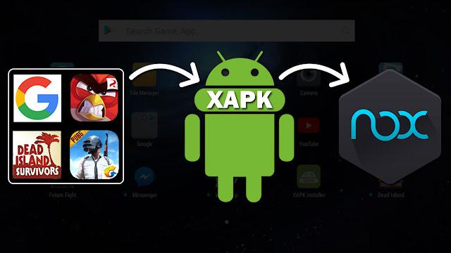 تثبيت التطبيقات والألعاب بصيغة xapk لمحاكي الاندرويد