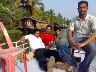 Siju George at Kumarakom- houseboat