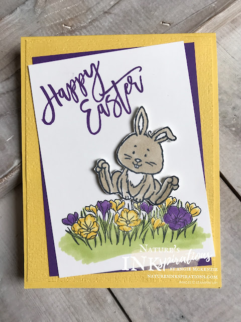 By Angie McKenzie for the Joy of Sets Blog Hop; Click READ or VISIT to go to my blog for details! Featuring the Welcome Easter and Easter Promise Stamp Sets; #handmadecards #naturesinkspirations #joyofsetsbloghop #occasioncards #easterpromisestampset #happyeasterstampset #coloringwithblends #fussycutting #cardtechniques #stampinupinks #makingotherssmileonecreationatatime