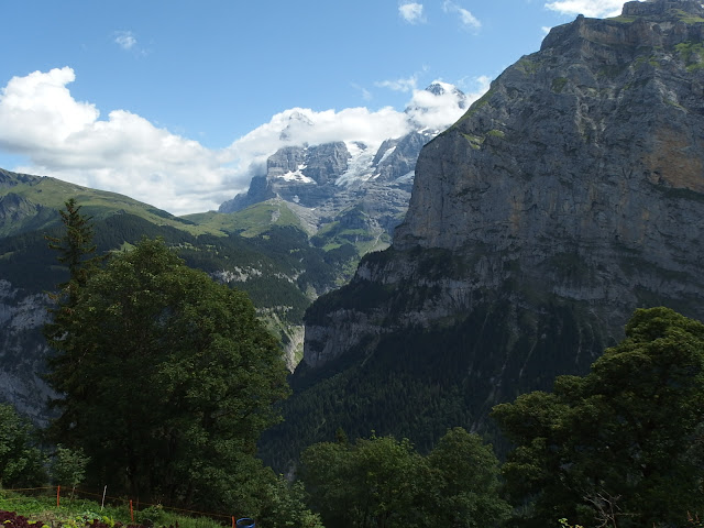 View towards the Eiger and Monch from Murren