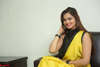 Cute Actress Ashwini in Yellow Saree Exclusive  041.JPG