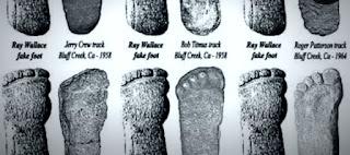 Bigfoot footprint