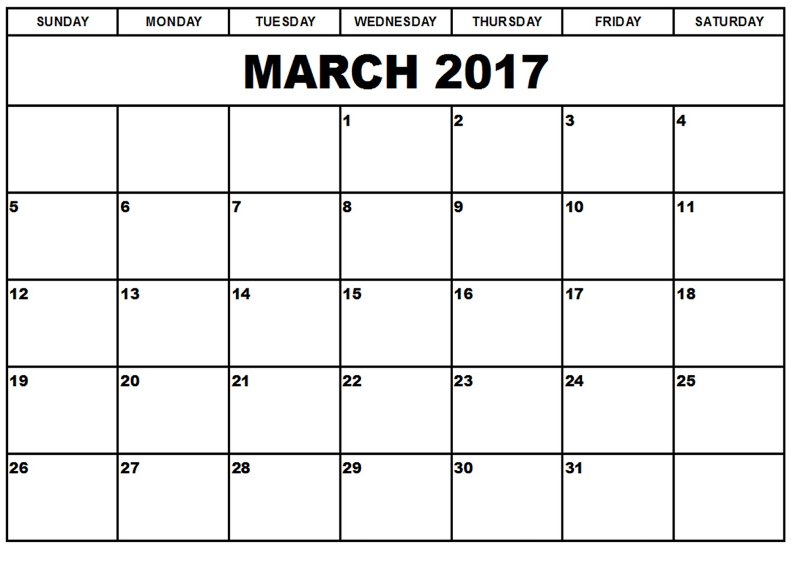 Blank Calendar Of March : Free march printable calendar templates