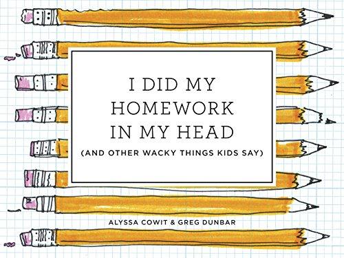I did my homework in my head book cover