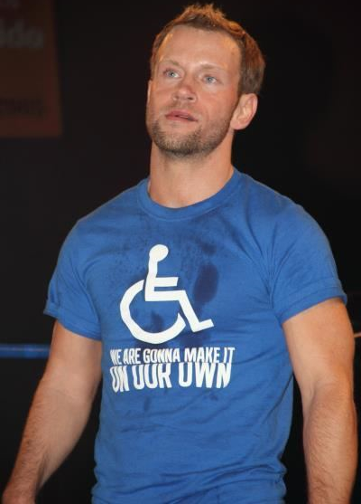 Gregory Iron handicapped icon t-shirt.  PYGear.com