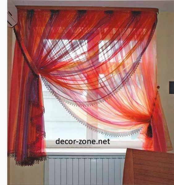 bedroom window curtains designs