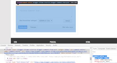 Cara Mengatasi Komentar blog terdapat blank putih dibawah