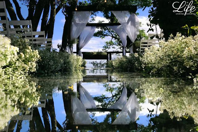 casamento ao ar livre porto alegre passarela espelhada beira do rio espelho por life eventos especiais