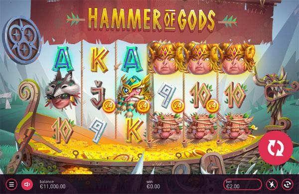 Main Gratis Slot Indonesia - Hammer of Gods Yggdrasil