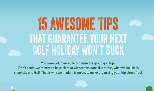15 Awesome Tips That Guarantee Your Next Golf Holiday Won't Suck #infographic