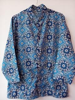 baju pakaian seragam batik identitas seragam lengan panjang baju batik pakaian batik identitas batik biru dari rakhma konveksi