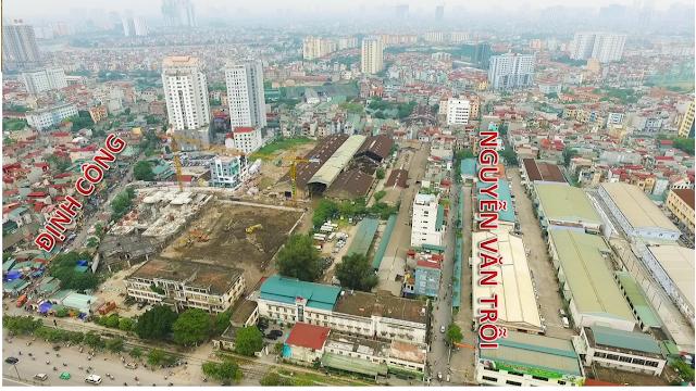 Dự án chung cư Imperial nhìn từ mặt đường Giải Phóng