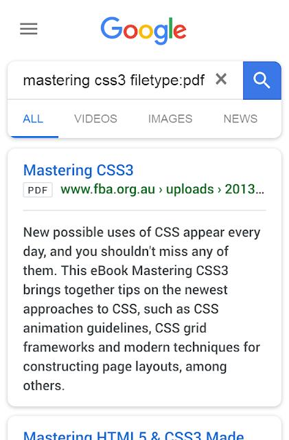 Search pdf files on Google.