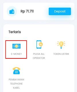 Top up dompet digital (e-wallet)