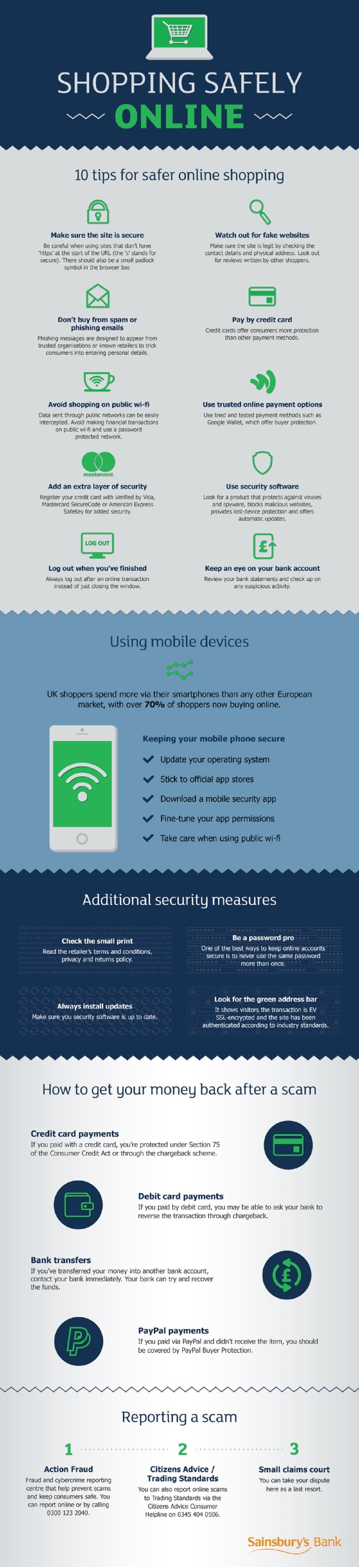 Guide to shopping safely online #infographic
