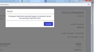 Status transaksi
