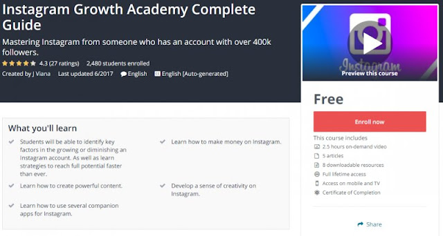 [100% Free] Instagram Growth Academy Complete Guide
