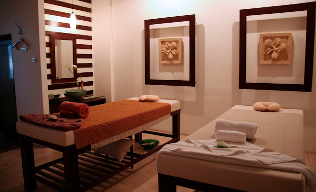 Massage beds at a local spa