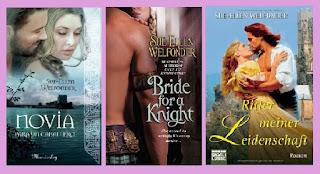 portadas de la novela romántica histórica Novia para un caballero