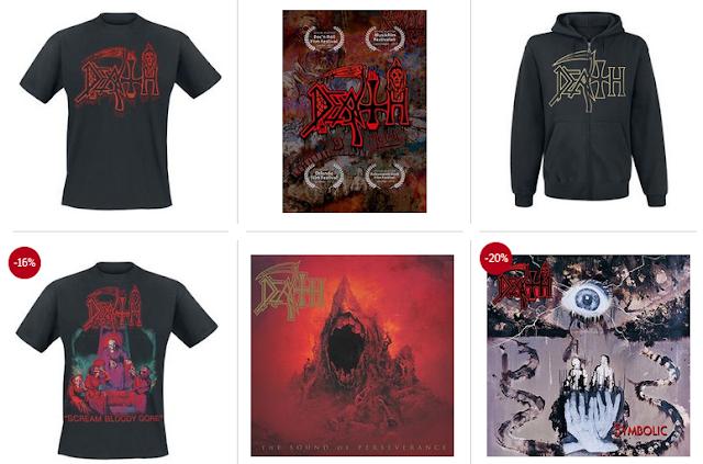 Death - koszulki i płyty