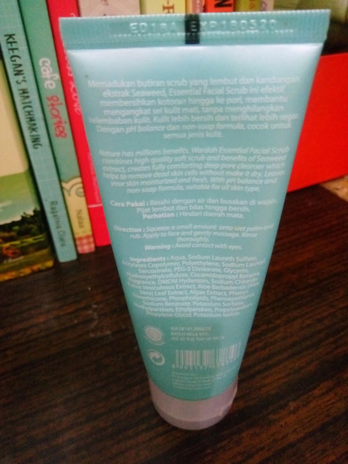 Wardah Essential Facial Scrub Daftar Harga Terbaru Dan Terlengkap 600 Ml Jual 60ml Source Aku Ga Ngerti Itu Ingredientnya Apa Aja Secara Bahasanya Bahasa Kimia And Latin Semua