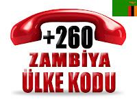 +260 Zambiya ülke telefon kodu