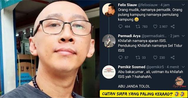 Singgung Mudik dan Pulang Kampung, Ustadz Felix Diserang Buzzer, Abu Janda Ngegas