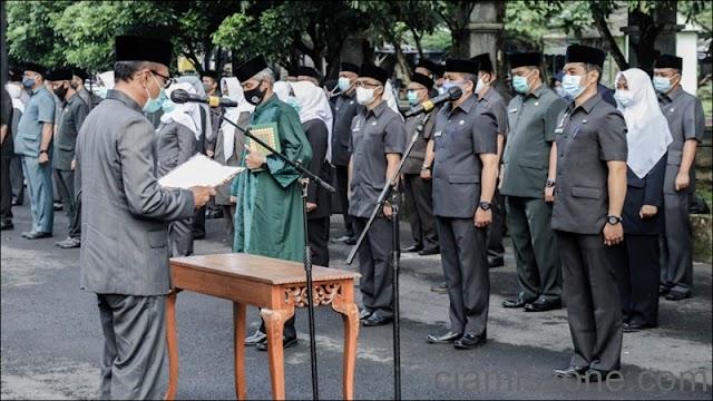 397 ASN Dilantik Menempati Jabatan Baru, Harus Disiplin Hati