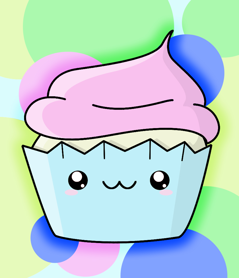 How To Draw A Kawaii Cupcake - Draw Central