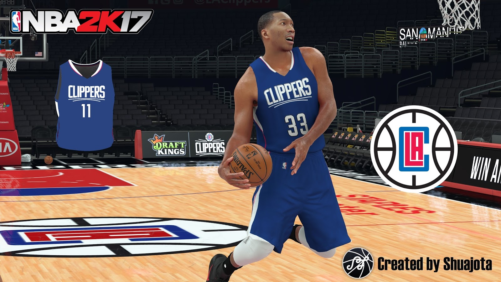 "DNA Of Basketball | DNAOBB: NBA 2K17 LA Clippers ""Blue Jersey"" by Shuajota"