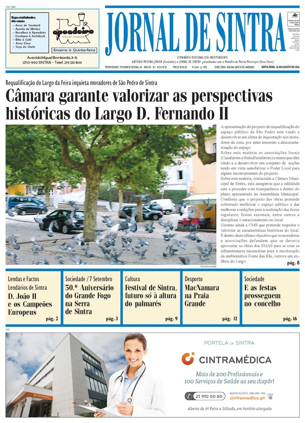 Capa da edição de 26-08-2016