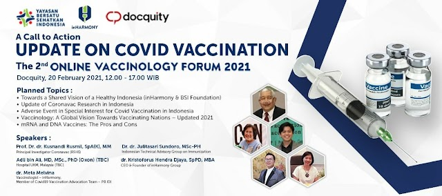 *Online Vaccinology Forum*  Update On Covid Vaccination _Feb 20_ and Respiratory Disease Prevention _Feb 27_