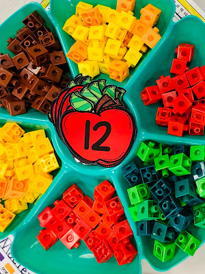 Count and Build an Apple Math Station