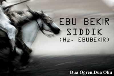 Hz. Ebu Bekr-i Sıddik Kimdir?