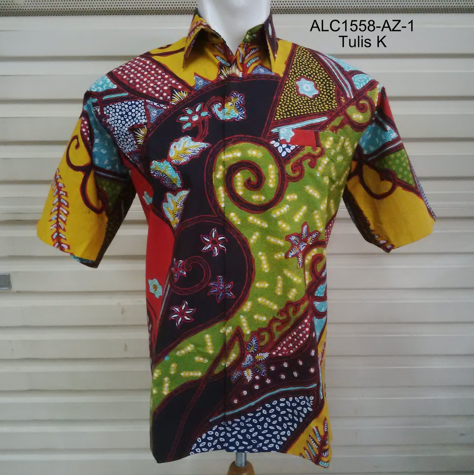 Aman Lase Collection   Batik Tenun Songket Indonesia  ALC1558 Kemeja ... f18a9e7d03