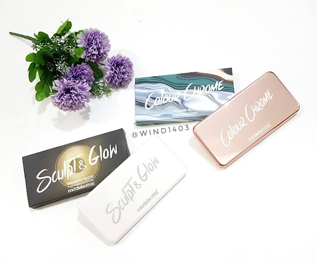Review Models Own Colour Chrome Eyeshadow Palette dan Sculpt and Glow Highlighter Palette