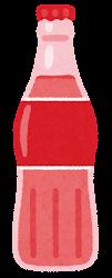 瓶に入った飲み物のイラスト(赤)
