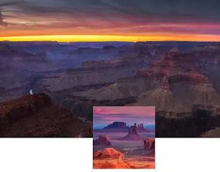 sfondo canyon
