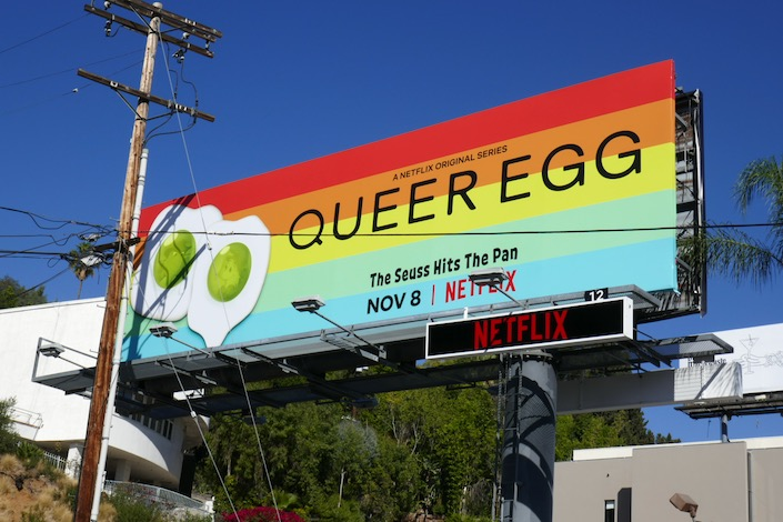 Queer Egg Green Eggs and Ham spoof billboard