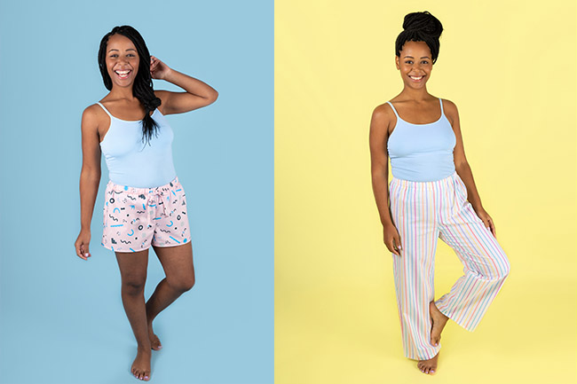 Jaimie pyjamas easy sewing pattern by Tilly and the Buttons