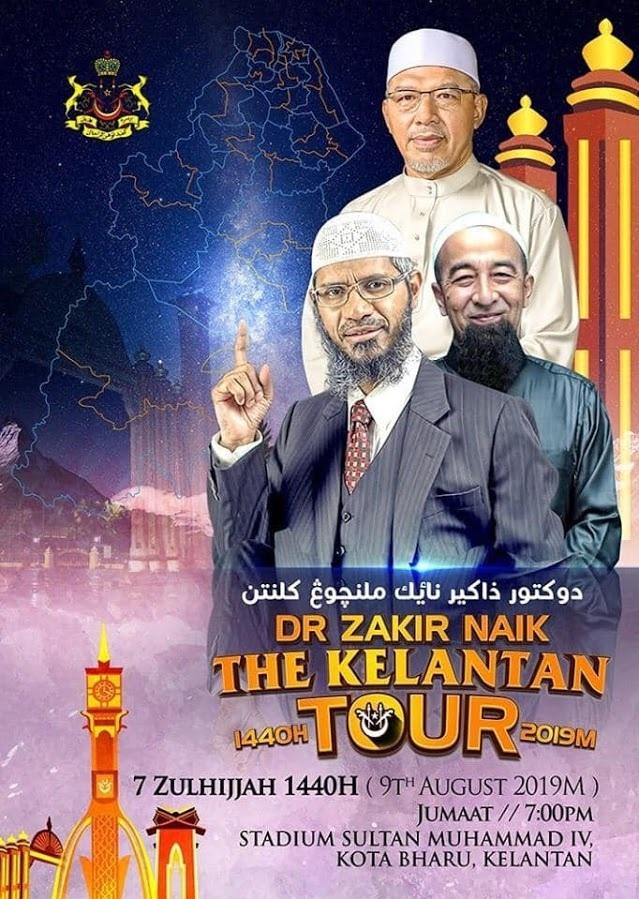 Malaysia Tolak Ekstradisi India, Zakir Naik Tetap Tur Dakwah di Kelantan