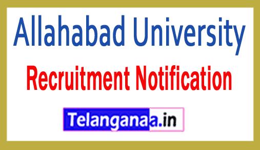 Allahabad University Recruitment Notification