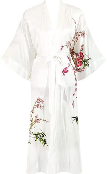White Silk Robes For Women