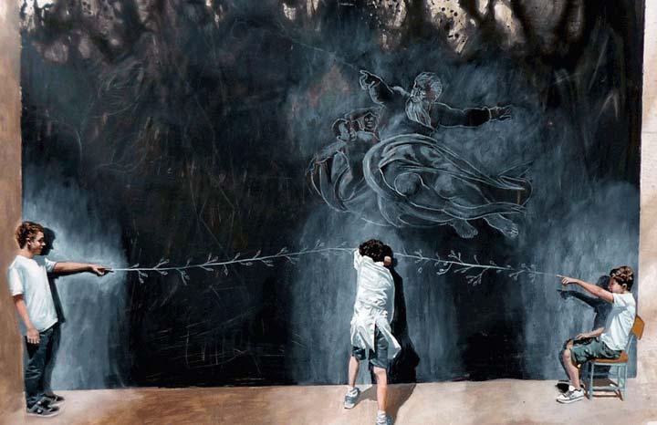 Memorias de la niñez. Claudio Gallina, el artista argentino que nos atrapa en los recuerdos de nuestra infancia.