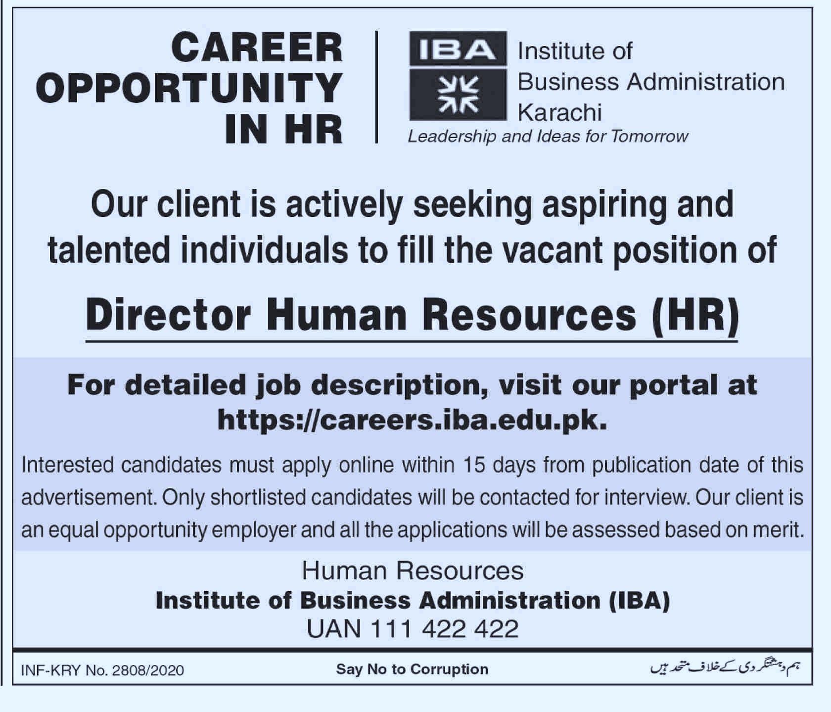Institute Of Business Administration IBA Jobs in Pakistan - Apply Online - careers.iba.edu.pk