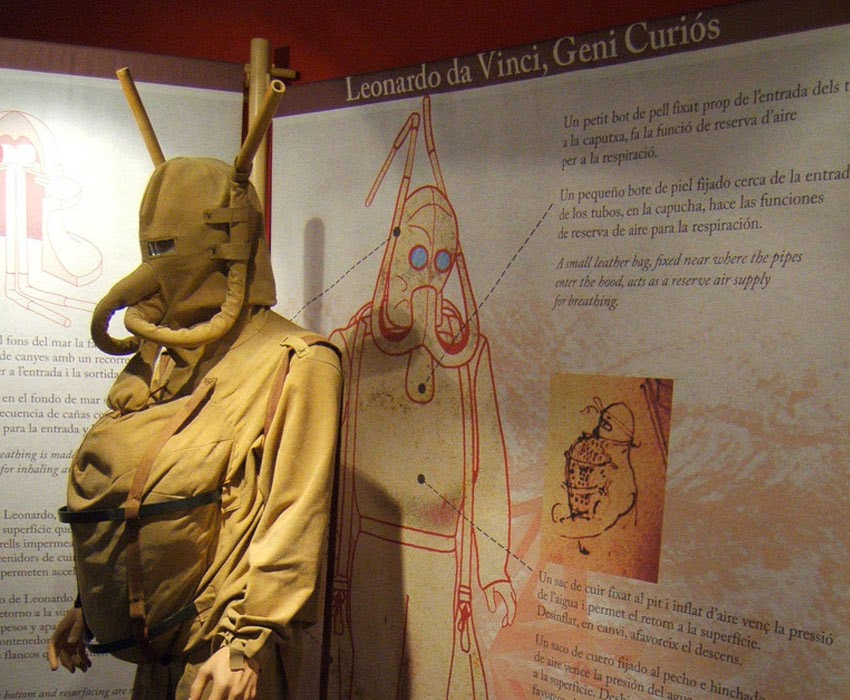 Leonardo Da Vinci's Ingenious Inventions - Diving Suit